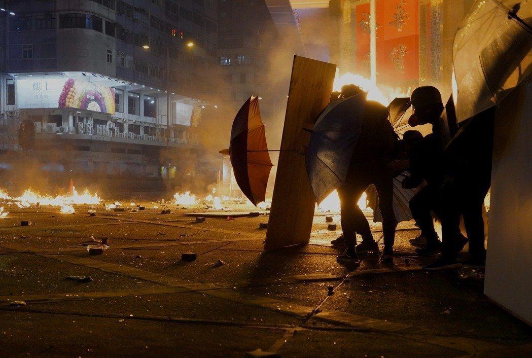 香港反送中運動連日來情勢升溫。(美聯社)