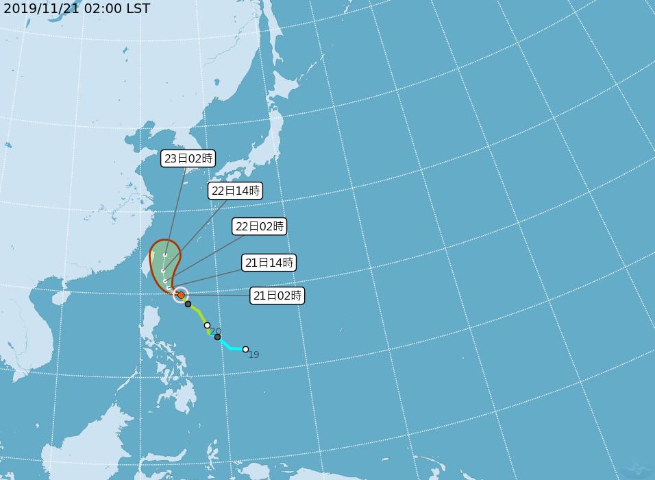 鳳凰颱風路徑。圖/中央氣象局提供