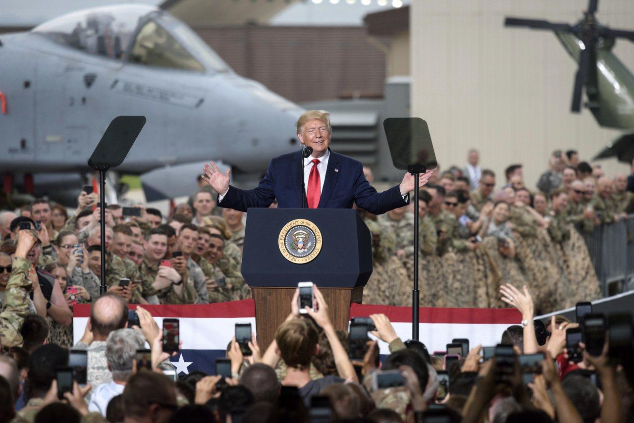 美國總統川普6月30日於美軍駐南韓烏山空軍基地發表演說。韓媒21日報導,如果南韓...