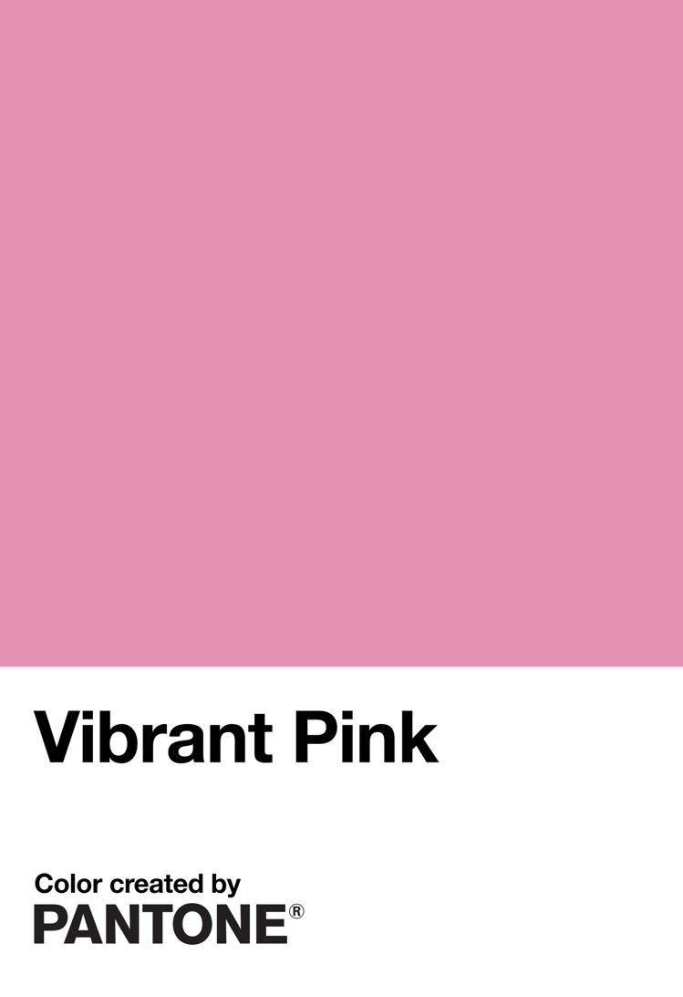 台北城市色彩活力粉(Vibrant Pink),粉色的意象是勇敢、前衛及力量的象...