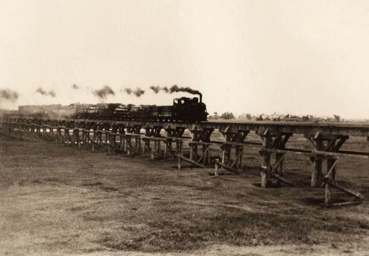早期的「太平山森林鐵路」行駛樣貌,宜蘭原鄉議員陳傑麟批評鐵路復甦規劃評估,只做了...