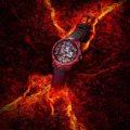 色即是空 鏤空腕錶示現赤焰與科幻之美