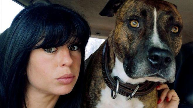 29歲孕婦皮拉斯基(Elisa Pilarski)上周六在森林中溜狗時遭到惡犬撕...