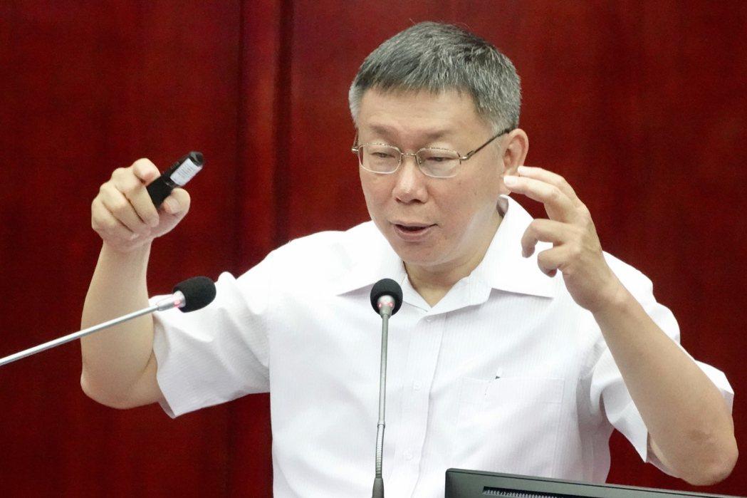 台北市長柯文哲。本報資料照片