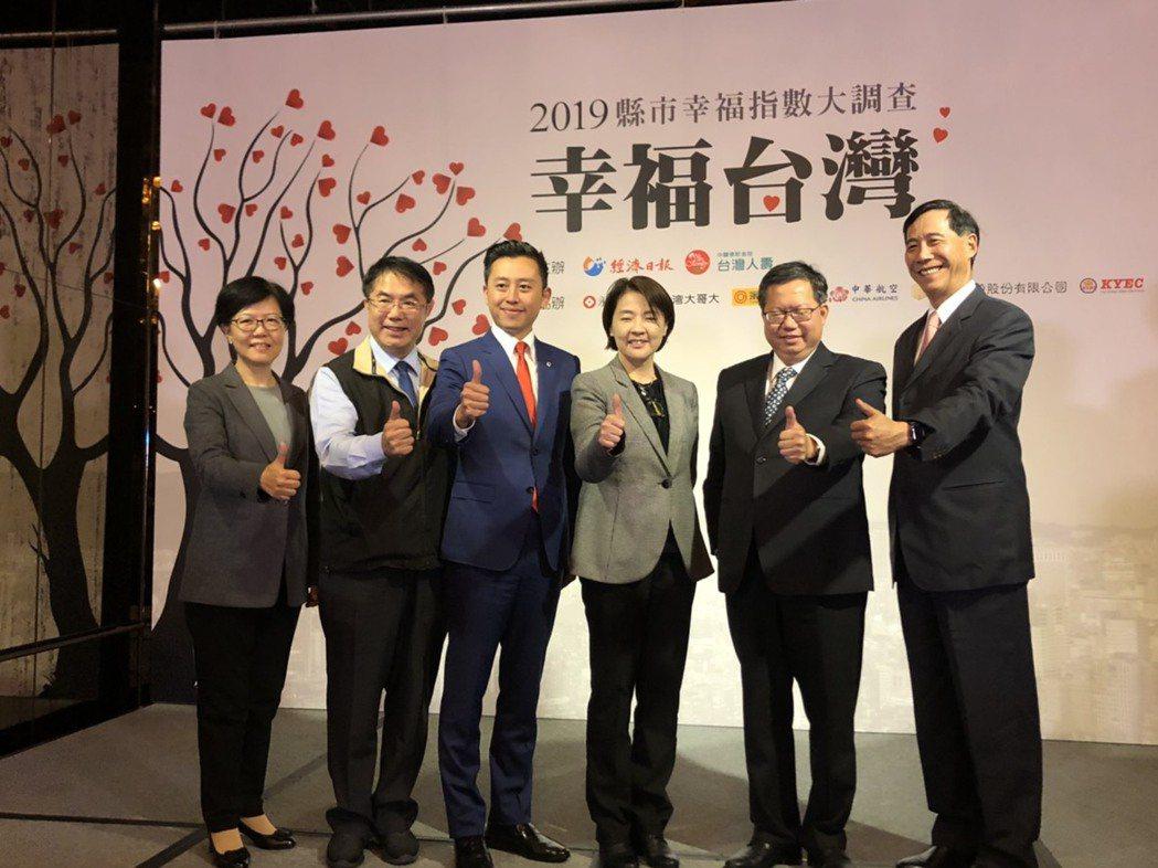 「幸福台灣2019縣市幸福指數大調查」今天公布結果。記者唐秀麗/攝影