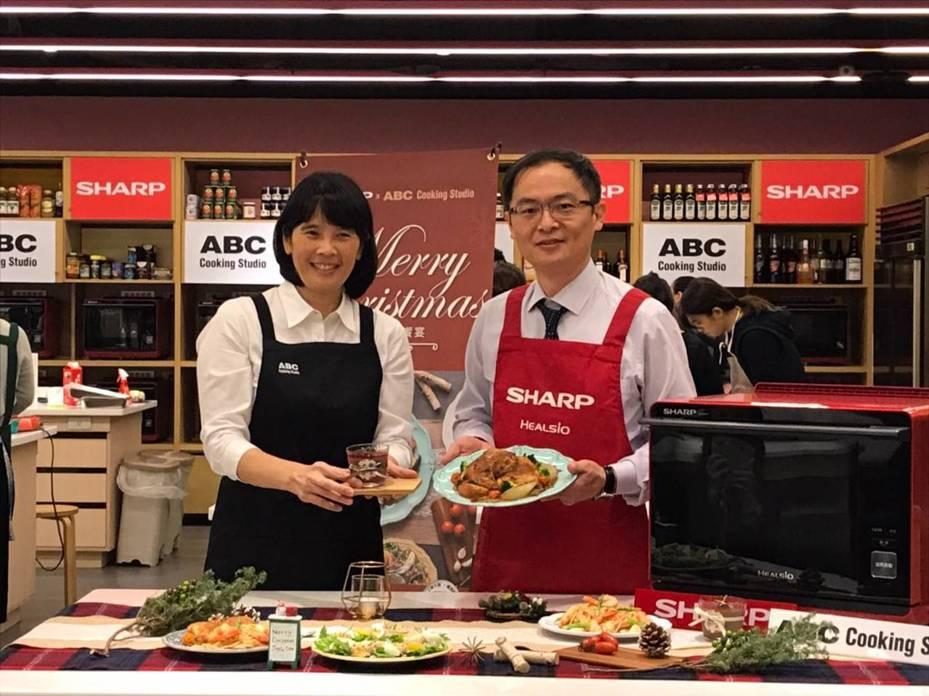 台灣夏普今日宣布攜手日本 ABC Cooking Studio 打造料理空間,該地點座落在交通便利的三鐵共構的板橋站環球購物中心。圖/台灣夏普提供