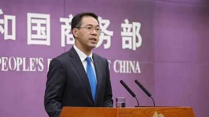 大陸商務部發言人高峰。 新華社資料照片