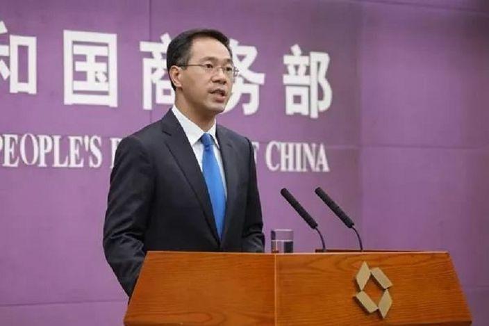 大陸商務部發言人高峰。新華社資料照片