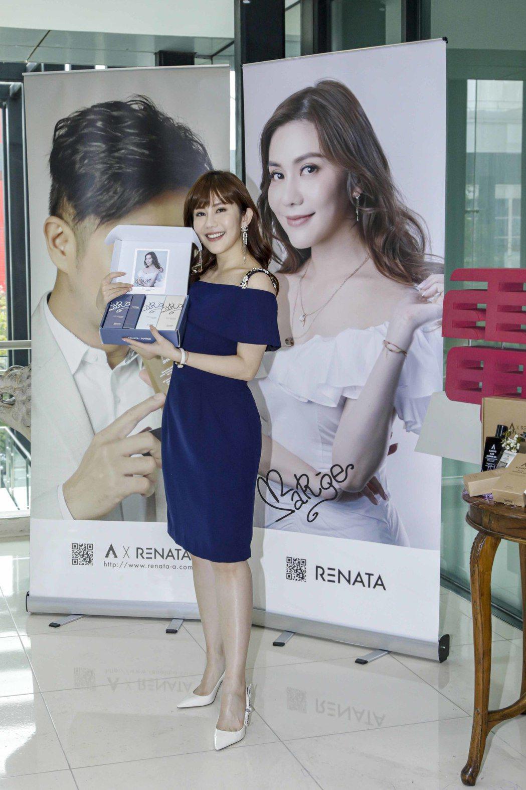 王宇婕推出髮品聯名商品大小事都親力親為。圖/三立提供