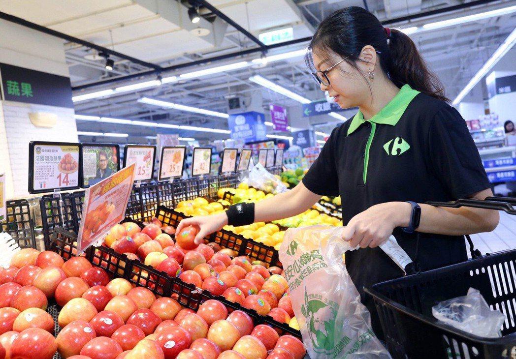 家樂福與國內兩大外送服務平台合作,提供消費者更即時便捷的購物服務。 圖/家樂福提...