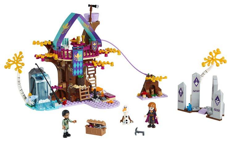 LEGO樂高《冰雪奇緣2》系列-「魔法樹屋」,售價2,199元。圖/樂高提供