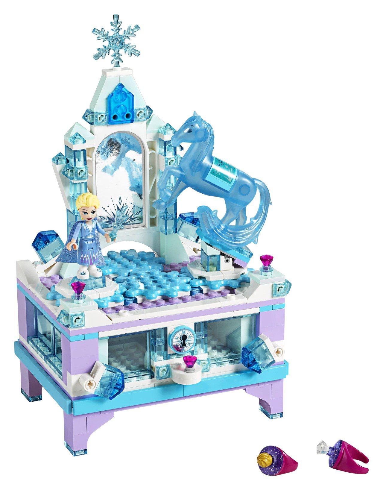 LEGO樂高以艾莎的冰雪宮殿為靈感打造「艾莎的珠寶盒創作」,售價1,699元。圖...