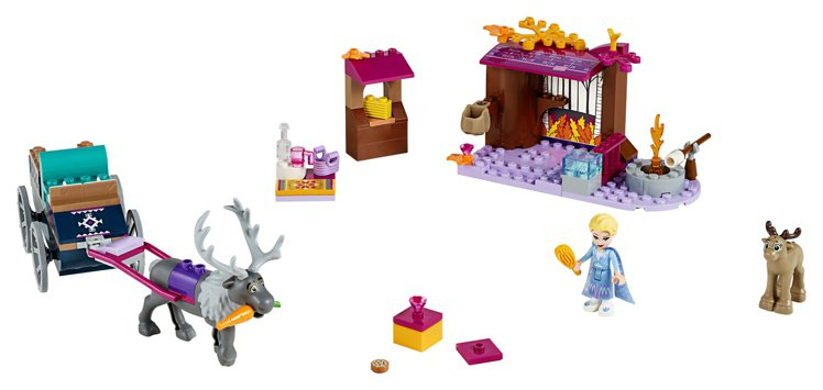 LEGO樂高《冰雪奇緣2》系列-「艾莎的馬車冒險」,售價1,299元。圖/樂高提...