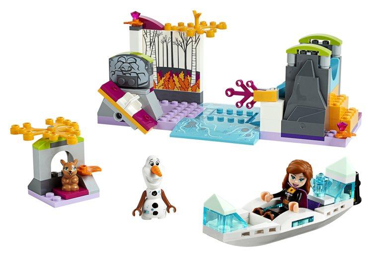 LEGO樂高《冰雪奇緣2》系列-「安娜的獨木舟探險」,售價899元。圖/樂高提供