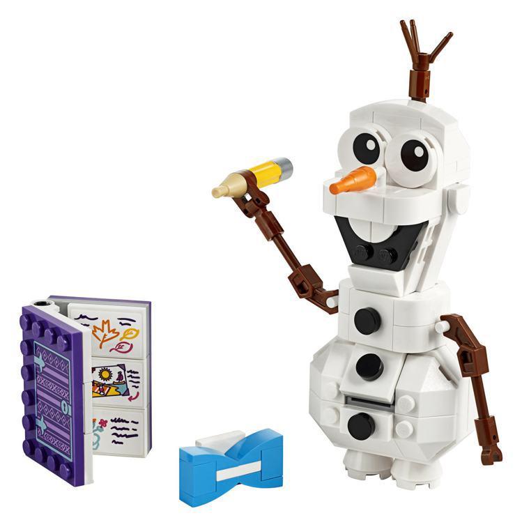 LEGO樂高《冰雪奇緣2》系列特別推出人氣角色「雪寶」盒組,售價599元。圖/樂...