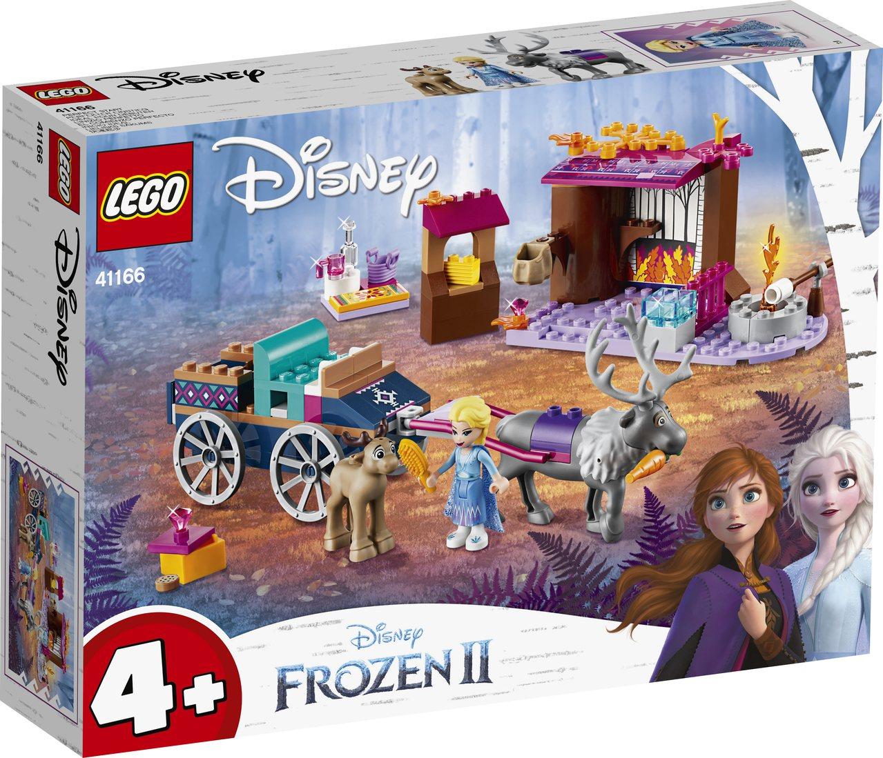 LEGO樂高推出《冰雪奇緣2》系列共6款盒組。圖/樂高提供