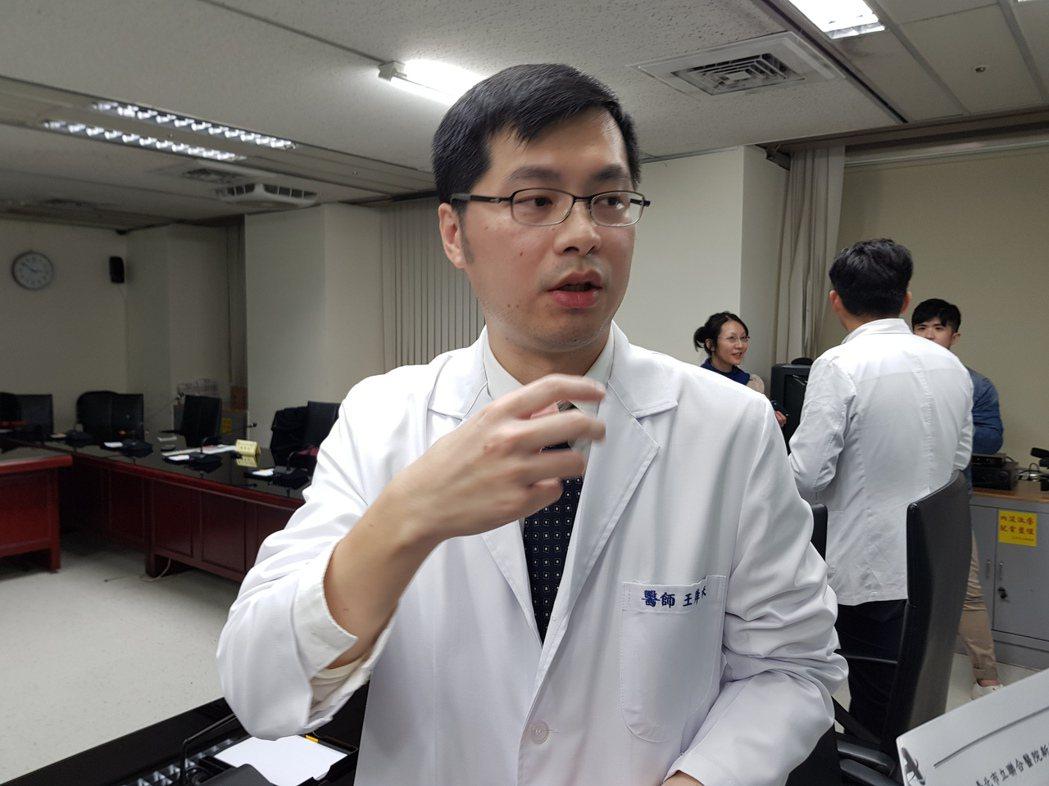 台北市立聯合醫院仁愛院區內分泌科主治醫師王舜禾。記者翁浩然/攝影