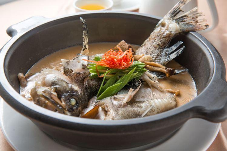 XO濃湯石斑魚。圖/高楓海鮮酒樓提供