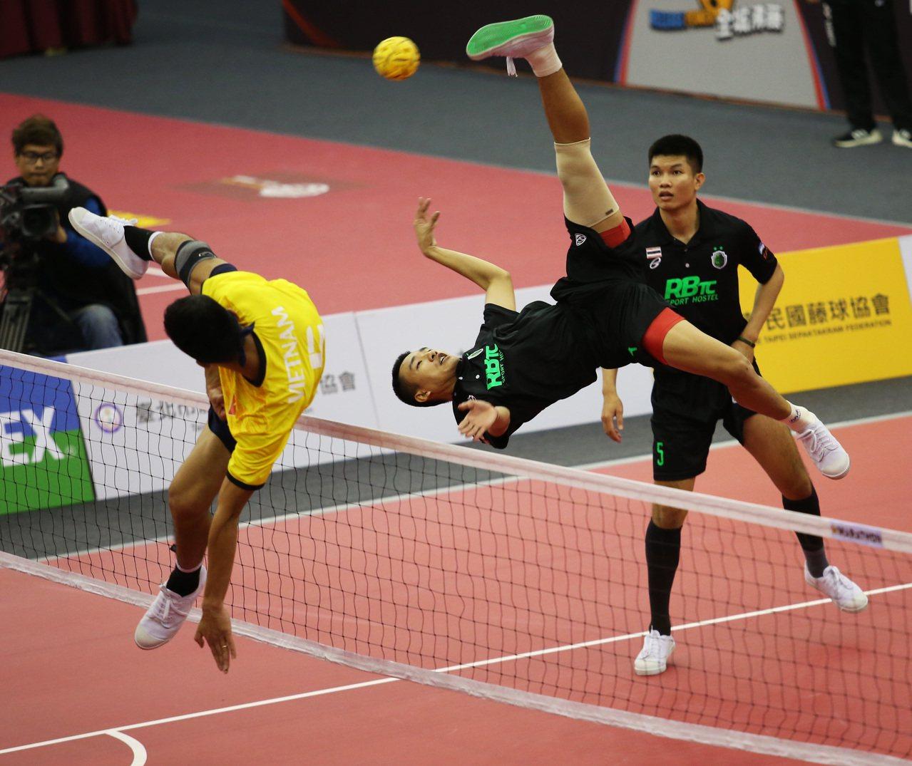 泰國隊拿下首屆台灣國際藤球邀請賽雙冠。圖/中華藤球協會提供