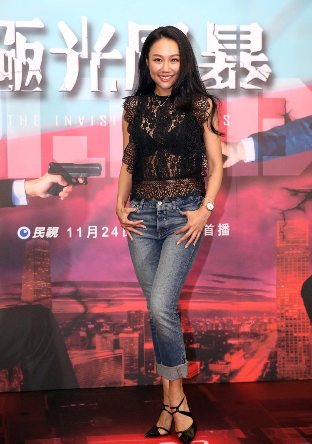 民視電視電影「極光風暴」首映記者會,王茉聿出席。記者曾吉松/攝影