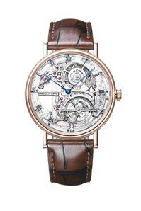 寶璣典系列5395超薄陀飛輪腕表,18K玫瑰金表殼,約726萬6,000元。 圖...