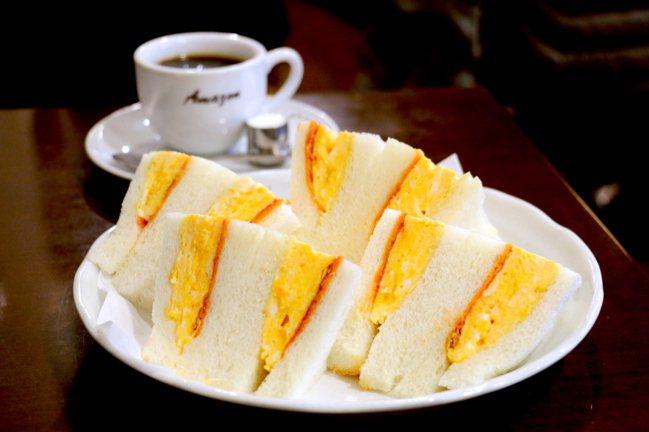日式厚蛋三明治在京都流行普遍的程度,遠遠超乎想像。 圖/徐銘志提供