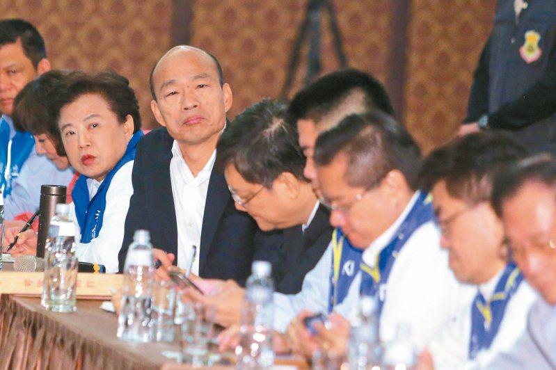 國民黨總統參選人韓國瑜說,他來聽企業界心聲,士農工商,企業界有搞頭台灣就有搞頭,大家說愈鹹愈好,不要雲淡風輕,真正傾聽企業界的苦水。 記者黃仲裕/攝影