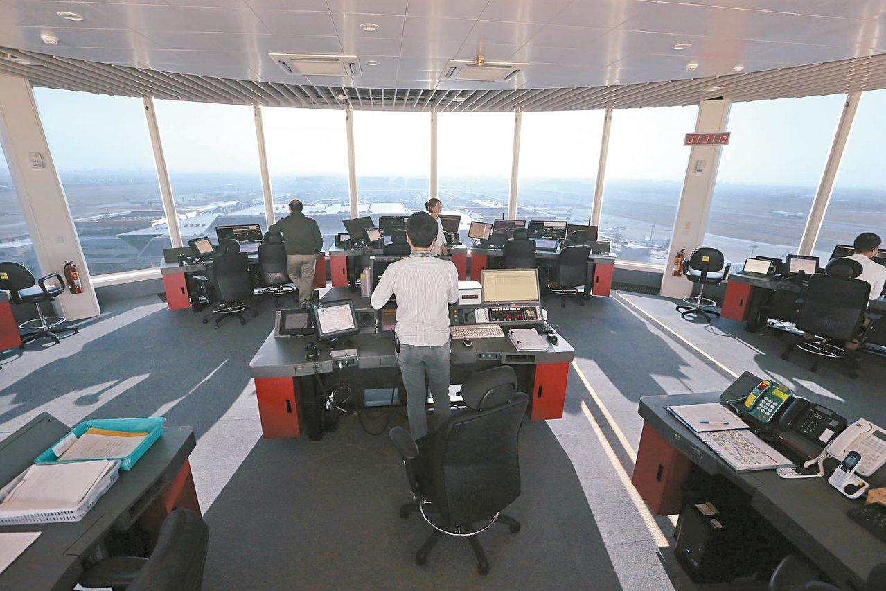 圖為新塔台管制室。 圖/聯合報系資料照片