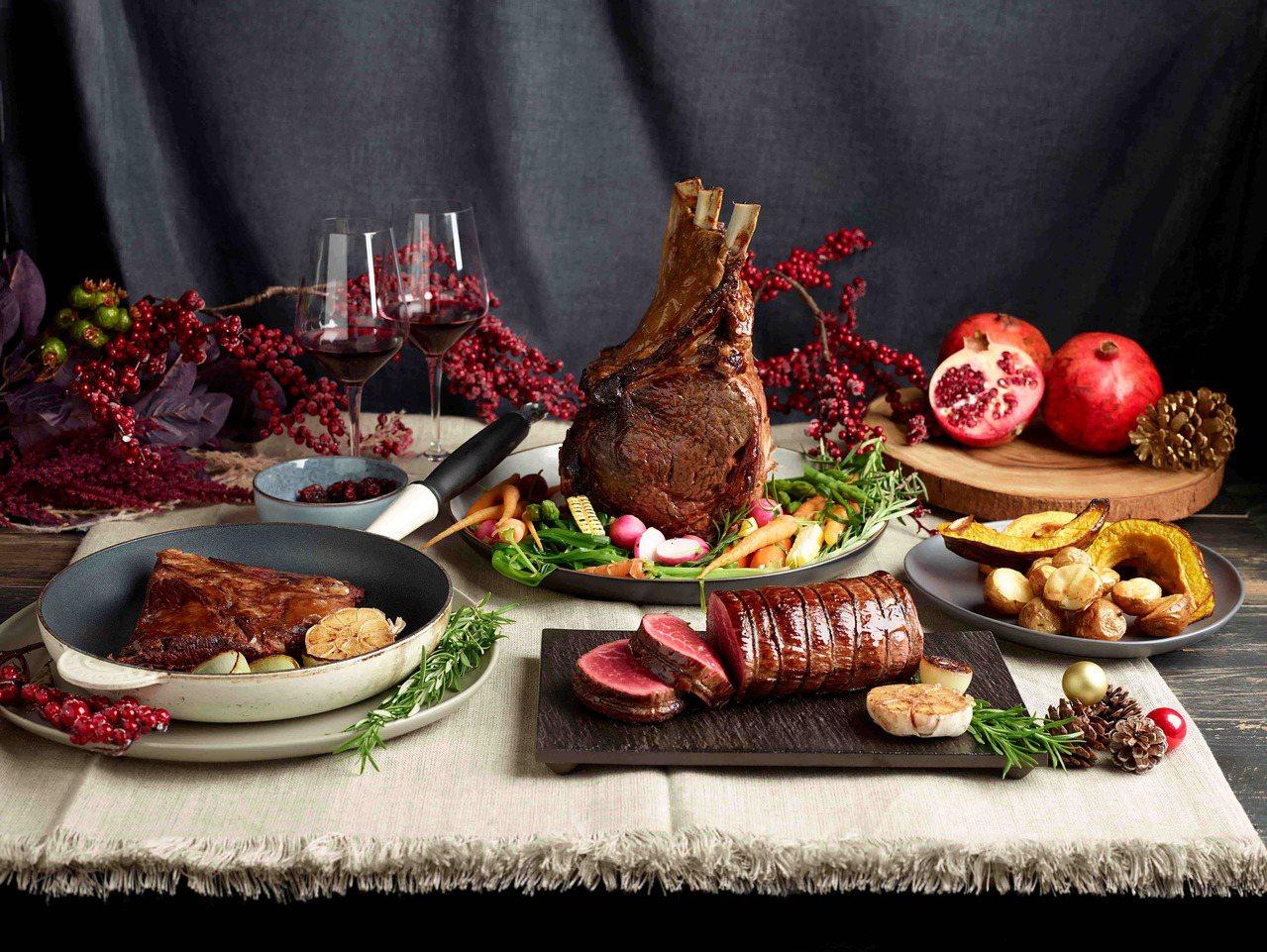 7家頂級牛排老饕夢幻餐廳一同端上肋眼、菲力、紐約客等部位高檔澳洲和牛套餐。 圖/...