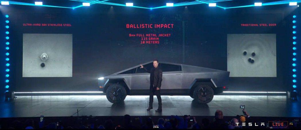 Tesla Cybertruck。 摘自Tesla