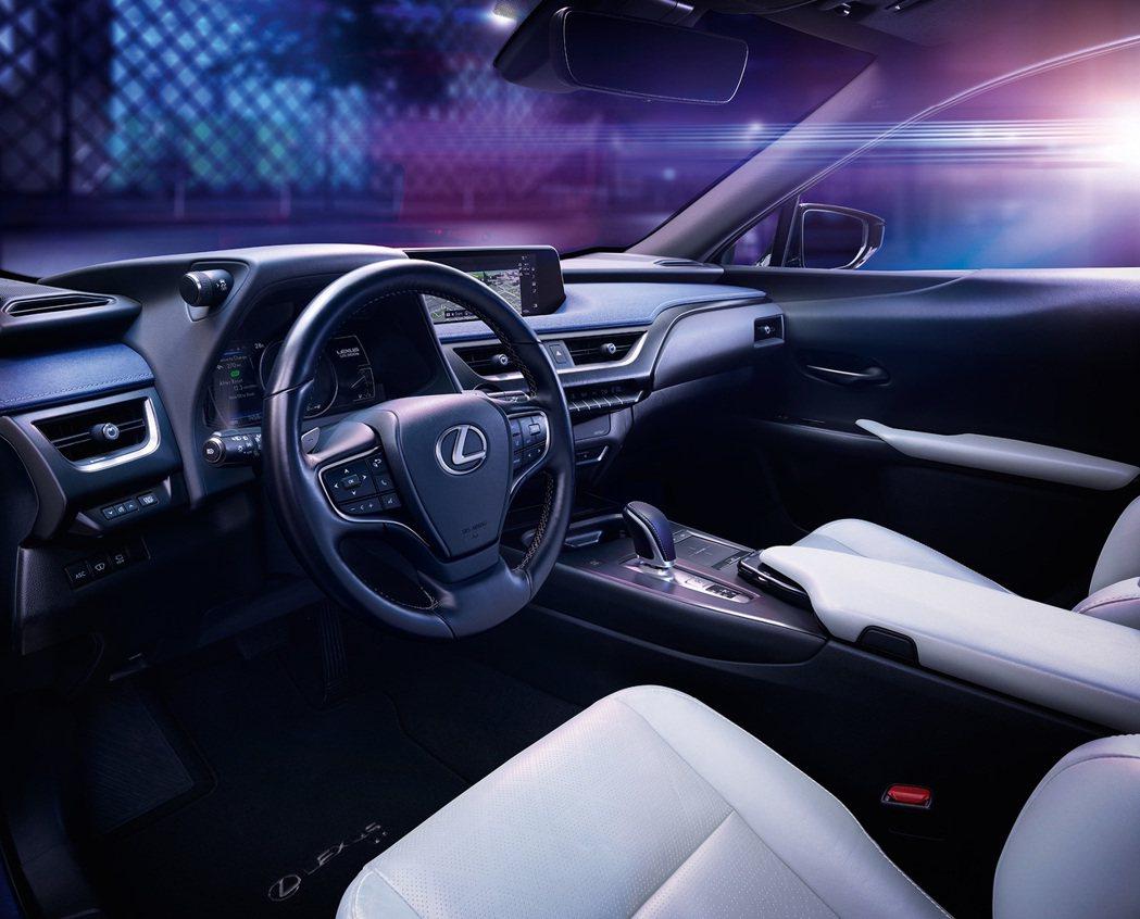 Lexus UX300e內裝。 摘自Lexus