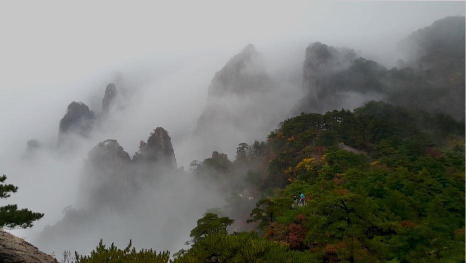 黃山,此景只應天上有,只能用仙境來形容。 圖/帶媽媽去旅行幸福全攻略