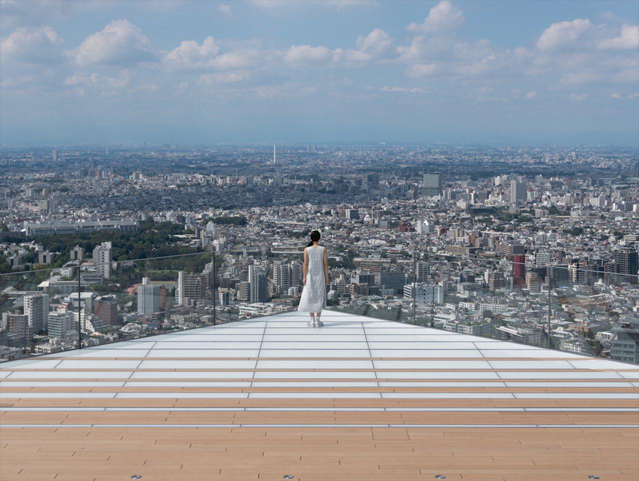 高透明玻璃圍繞著Shibuya Sky。圖/Shibuya Scramble S...