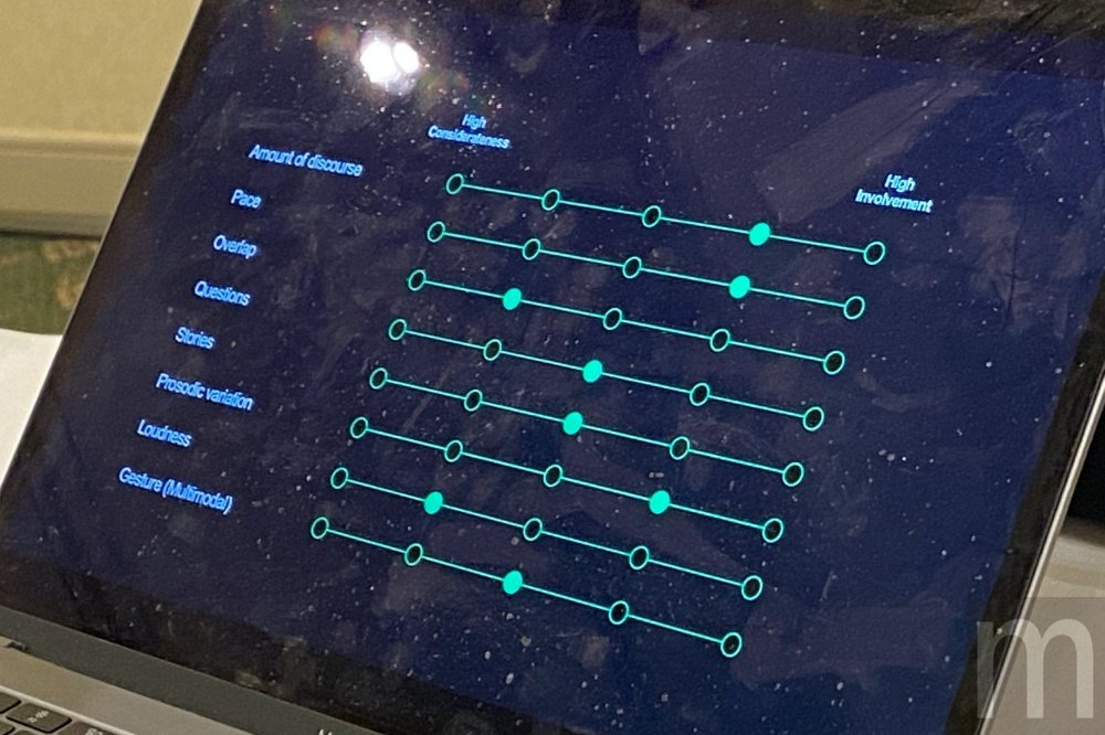 在都炅兌分享內容中,可以看見訓練內容其實還包含手勢等資訊,意味DUET未來還會應...