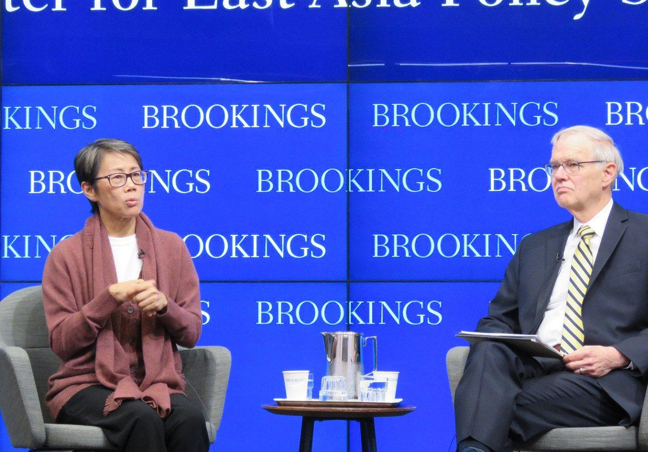 美國華府智庫「布魯金斯研究院」21日舉行談論香港未來的研討會,由美國在台協會前理...