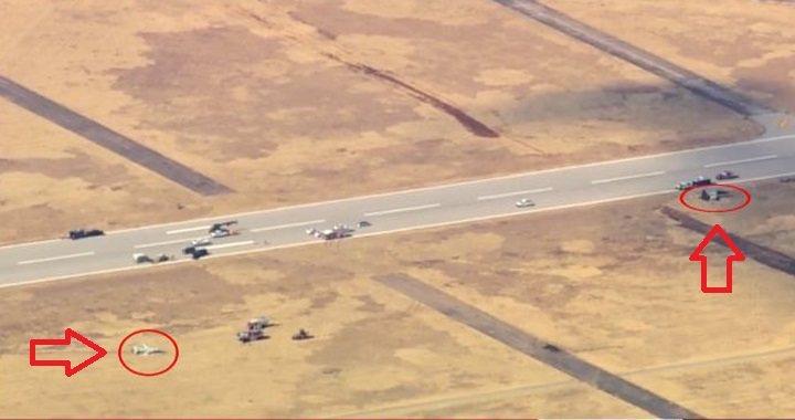 美國空軍兩架T-38教練機於當地時間21日早上9時墜毀,飛行員兩死兩生還。取自臉...