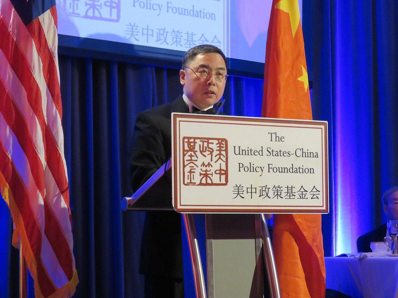 中國大陸駐美公使李克新21日出席美中政策基金會年度晚宴。華盛頓記者張加/攝影
