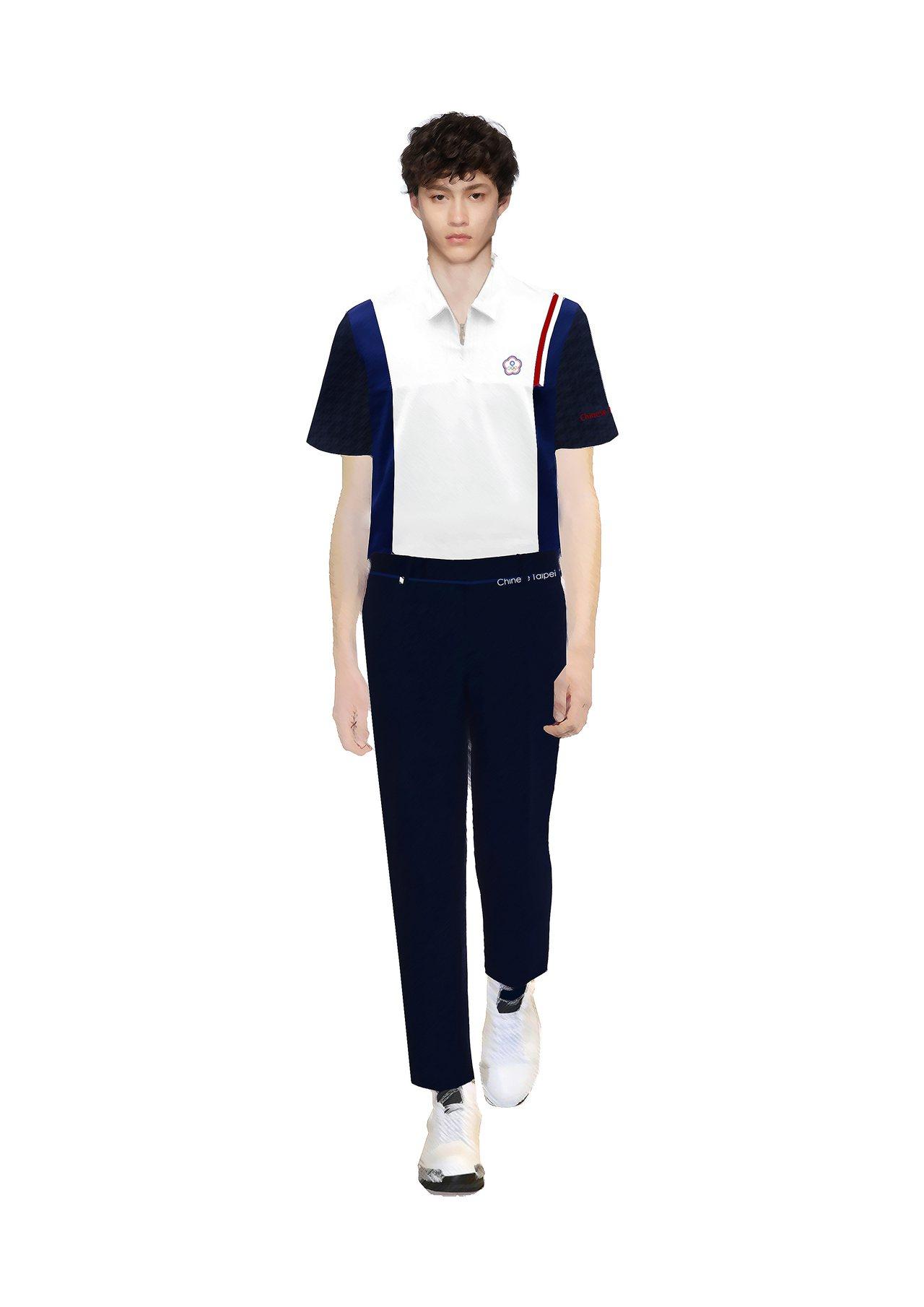 2020年東京奧運中華代表團的進場服裝,由周裕穎操刀設計,以環保機能布料、修身剪...
