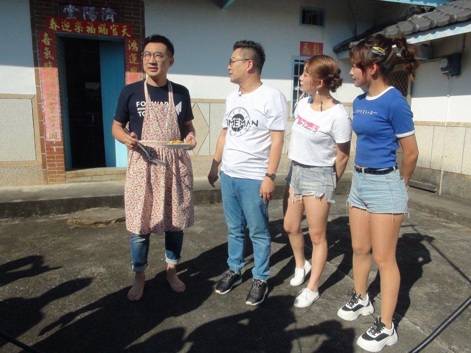 台南市議員謝龍介今天到台中陪立委江啟臣參加節目錄影。記者余采瀅/攝影