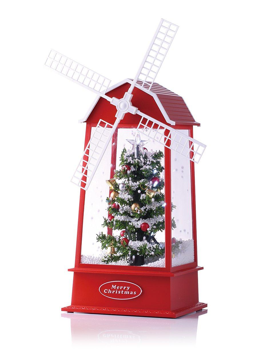 HOLA特力和樂噴雪耶誕音樂燈-風車,特價1,992元。圖/HOLA提供