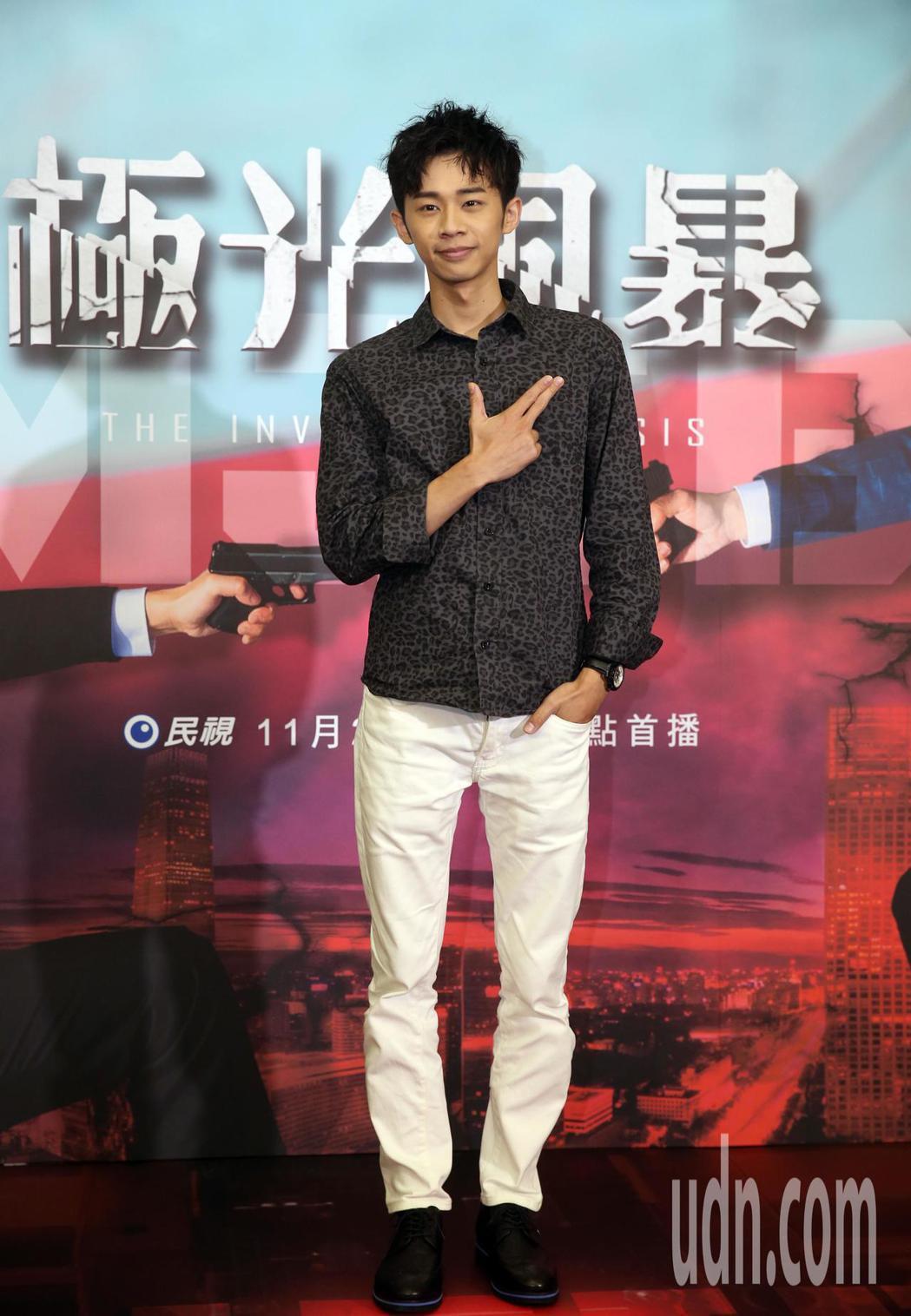 民視電視電影「極光風暴」首映記者會,吳政迪出席,調查局長呂文忠也出席首映會。記者