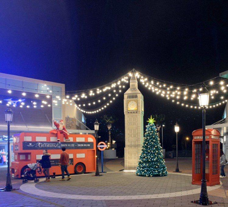 三期倫敦廣場耶誕景緻。圖/華泰名品城提供
