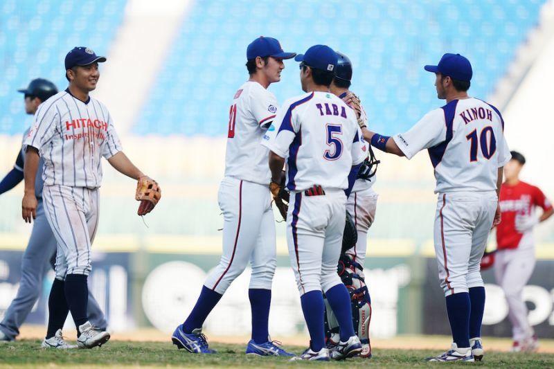 冬盟明天開打,日本社會人隊今天進行賽前練習。圖/中職聯盟提供