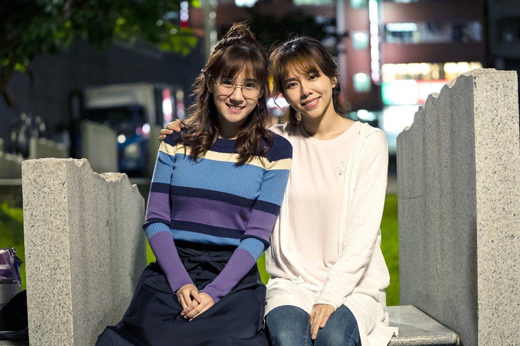 方志友(左)與夏于喬在「天堂的微笑」有精采對手戲。圖/TVBS提供