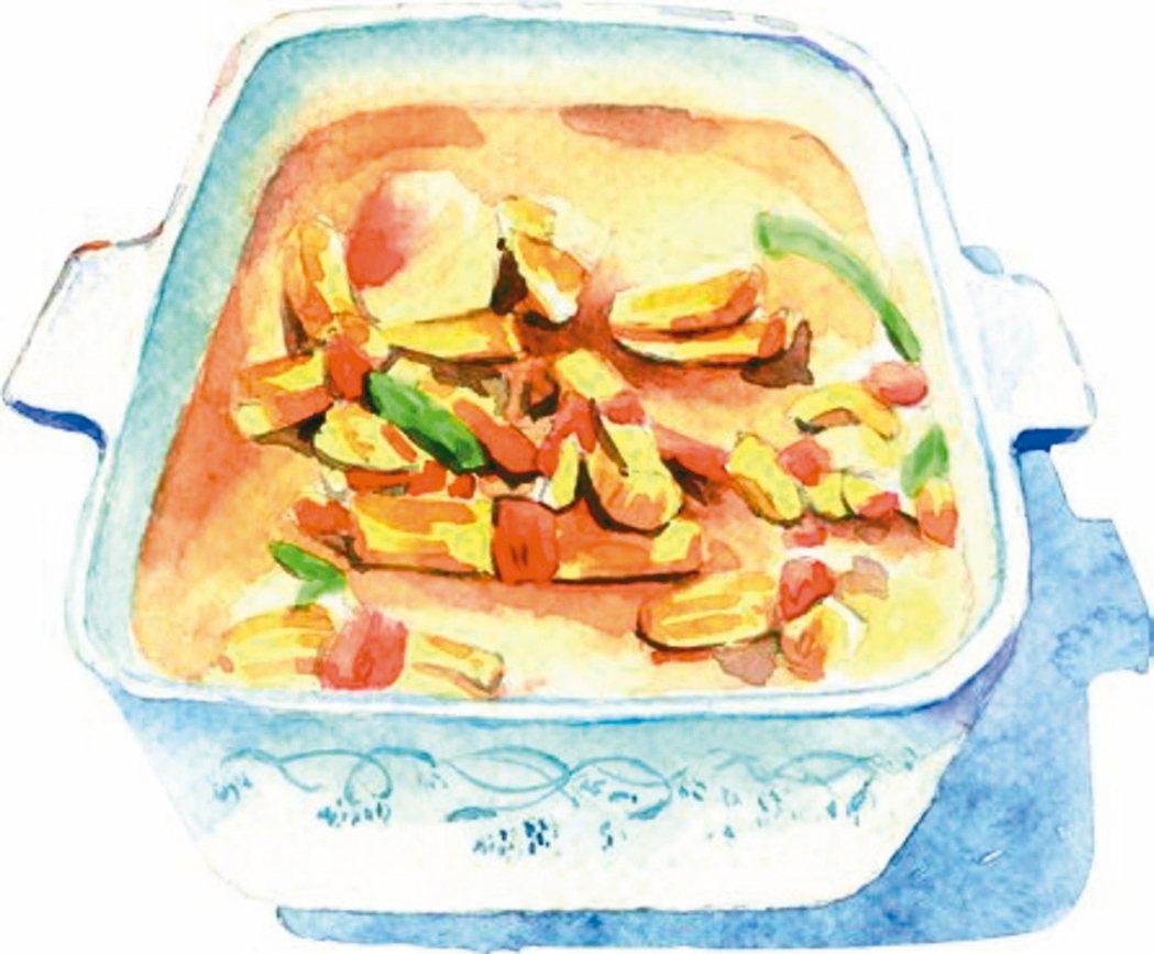 金針鹹菜結湯。 圖╱聯經提供