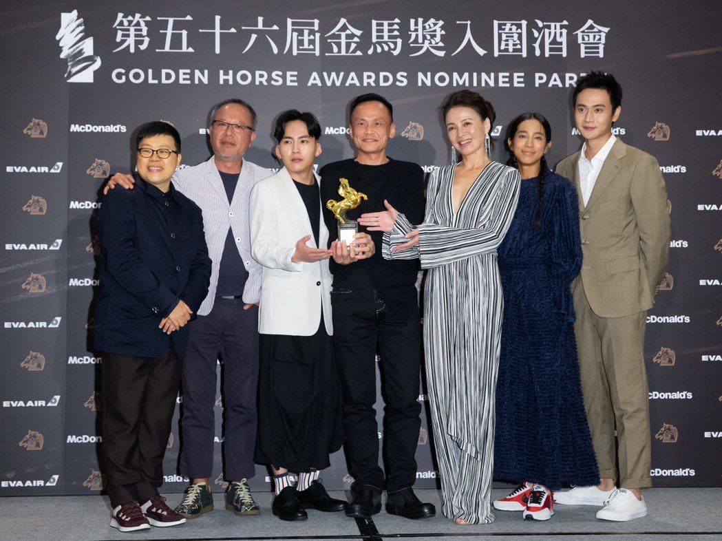 第56屆金馬獎昨天舉行入圍酒會,《陽光普照》獲頒金馬獎觀眾票選最佳影片,劇組葉如