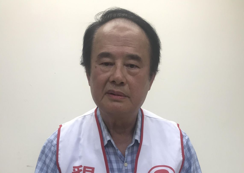 聾國黨主席、自稱首位聾立法委員參選人的楊烱煌。 記者楊正海/攝影