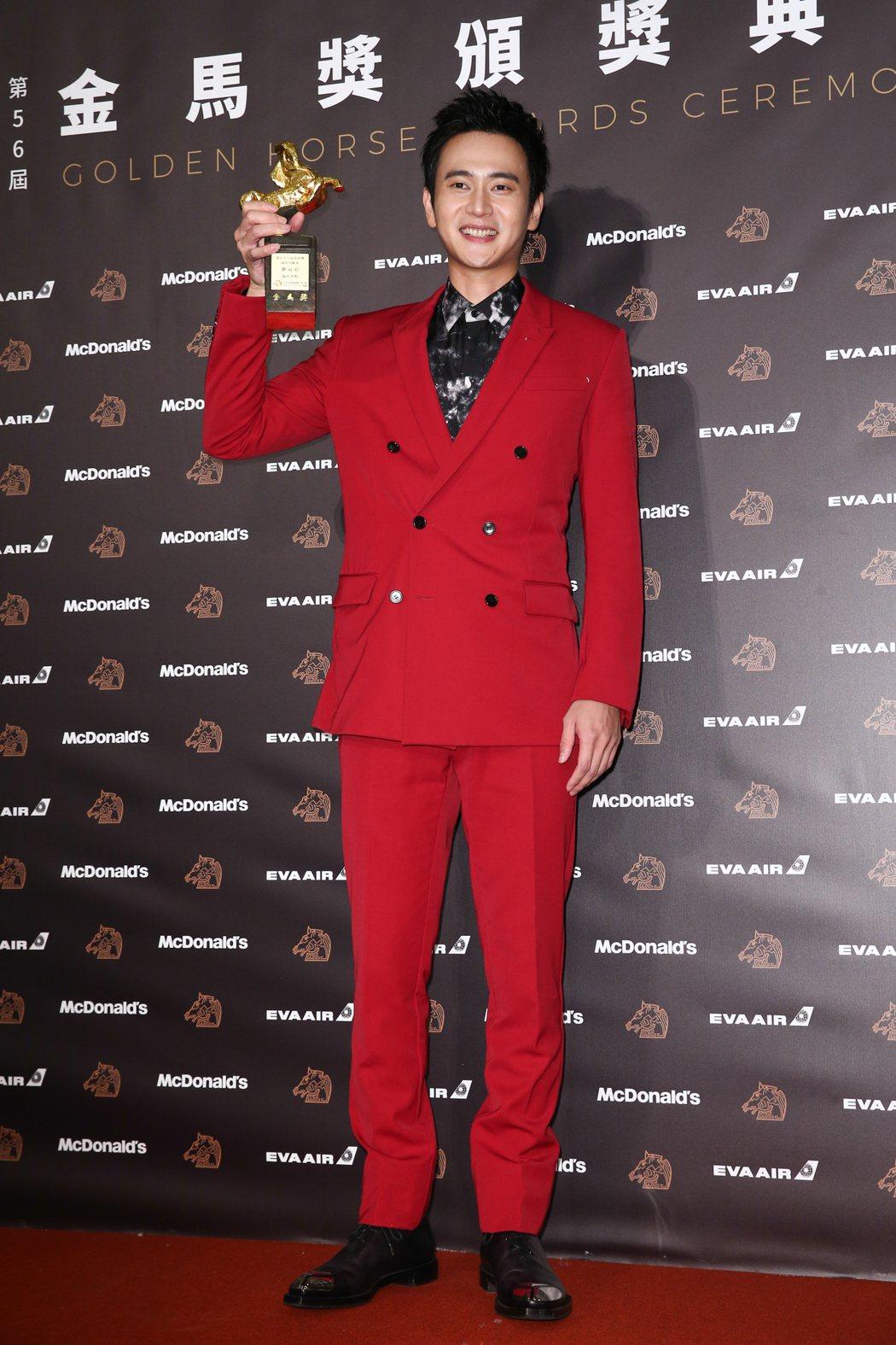第56屆金馬獎頒獎典禮,劉冠廷獲最佳男配角獎。記者曾原信/攝影