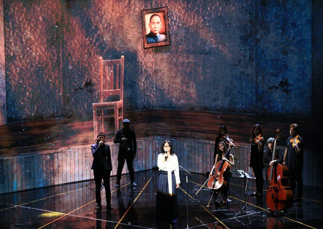 雷光夏獻唱電影「返校」主題曲「光明之日」。記者林伯東/攝影