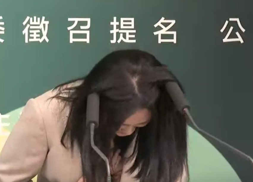 插進賴品妤頭髮的麥克風套,最終被鐵粉以15萬元買走。 圖/聯合報系資料照片